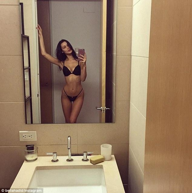 Sexy bathroom self shooter