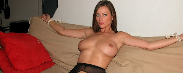 up pantyhose in cole Kyla tied