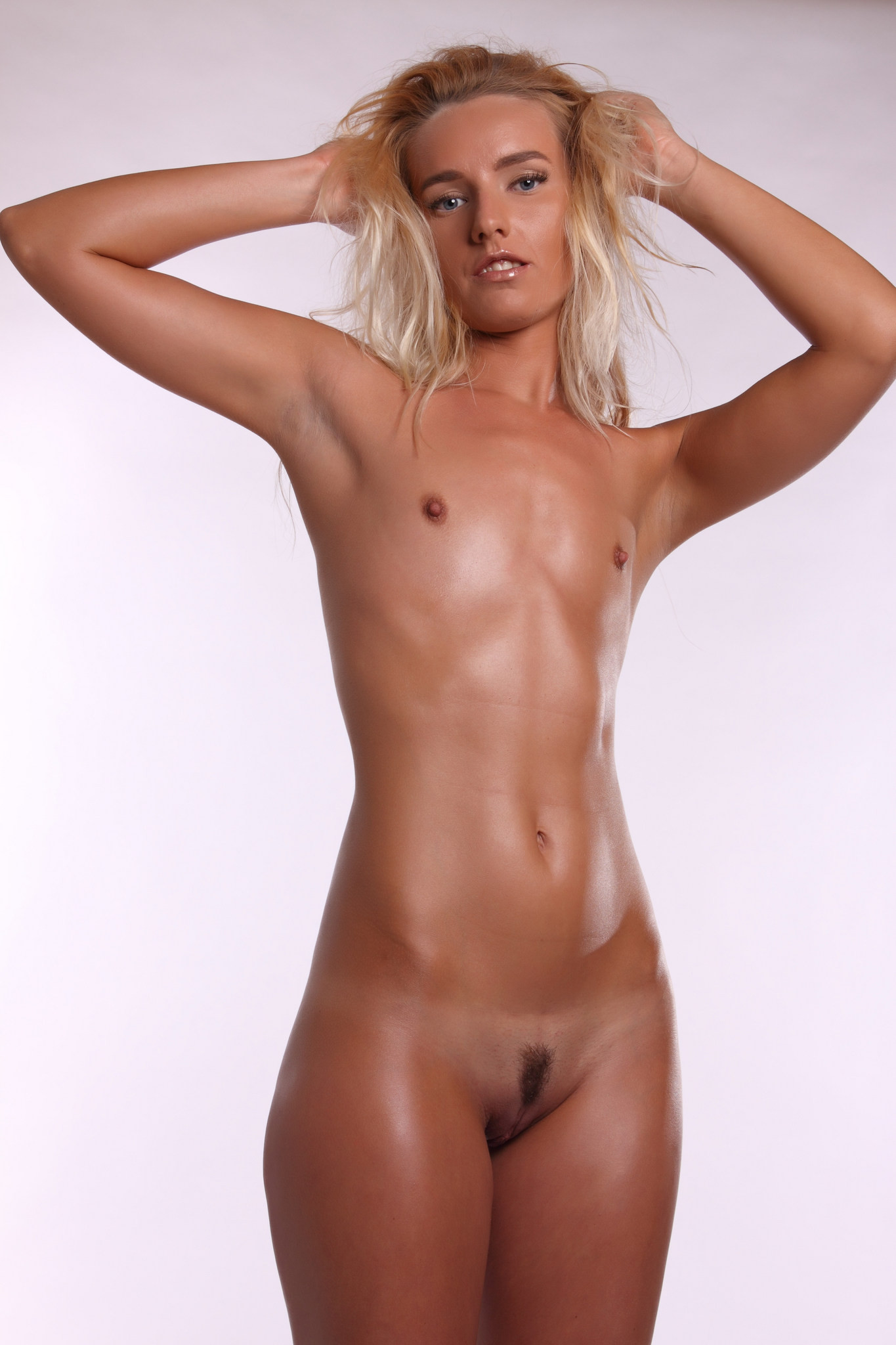 Nude titless flat chested girl