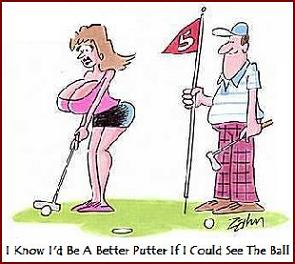 Women golfers with big tits