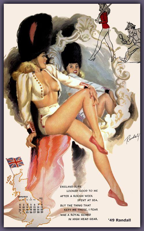 Vintage british pinup girls