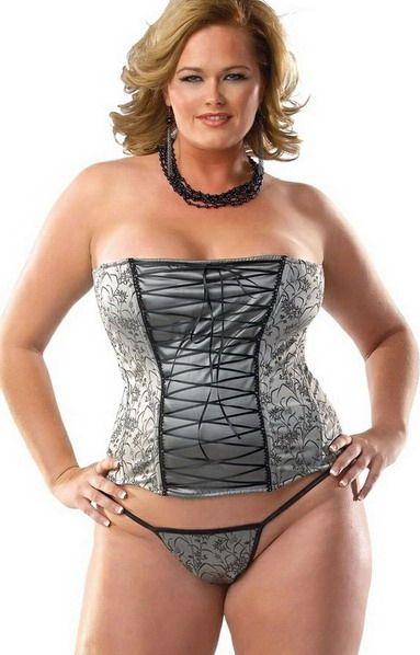 Full figured lingerie models