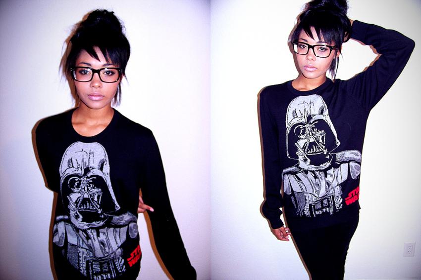 Skinny nerdy teen