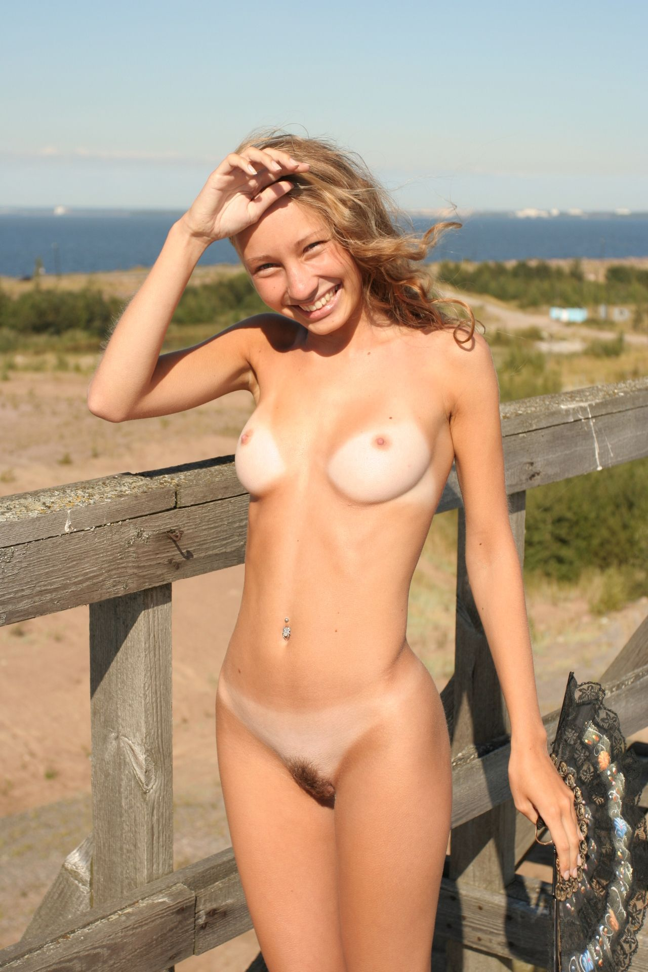 Cute girl nude naked nudist
