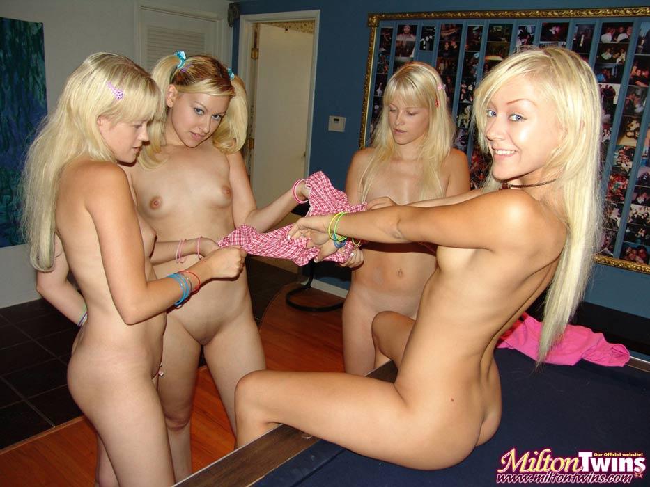 Milton twins foursome porn