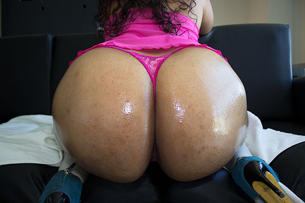 Big oiled ass butt naked