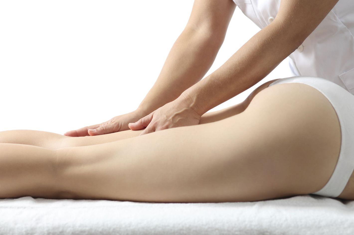Girl gets ass massage