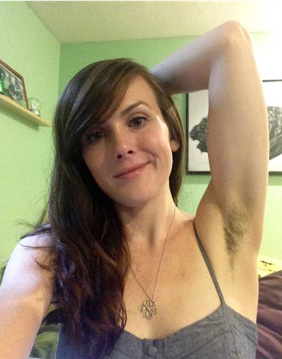 Hairy armpit women