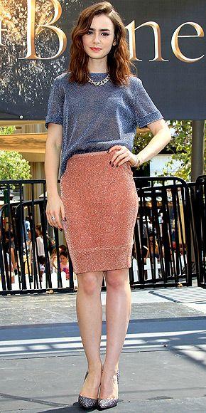 Kami sexy redhead skirt