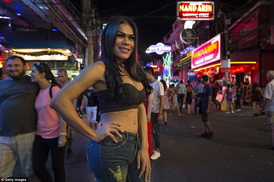 Real thai street ladyboy