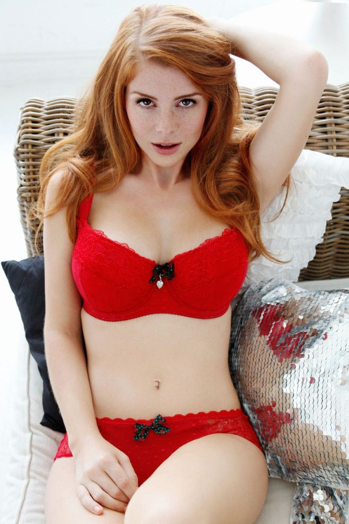 red heads Sexy lingerie nude models