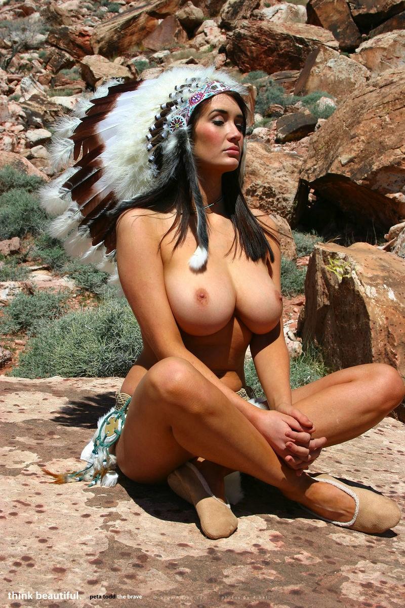 Beautiful native american indian nude