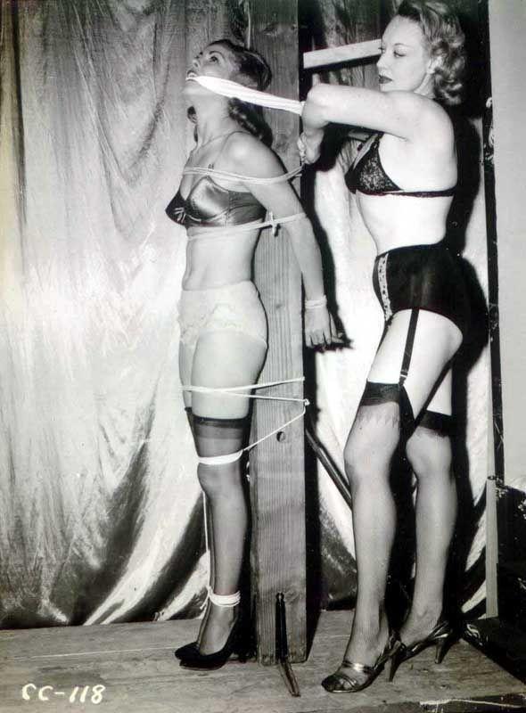Vintage stocking porn bondage