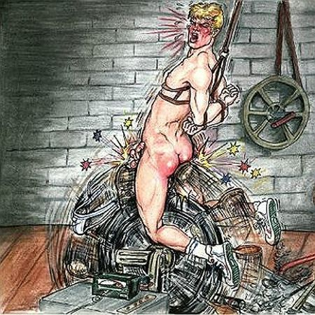 Gay male bondage spanking cartoons