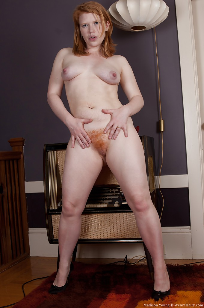 Hairy redhead madison young