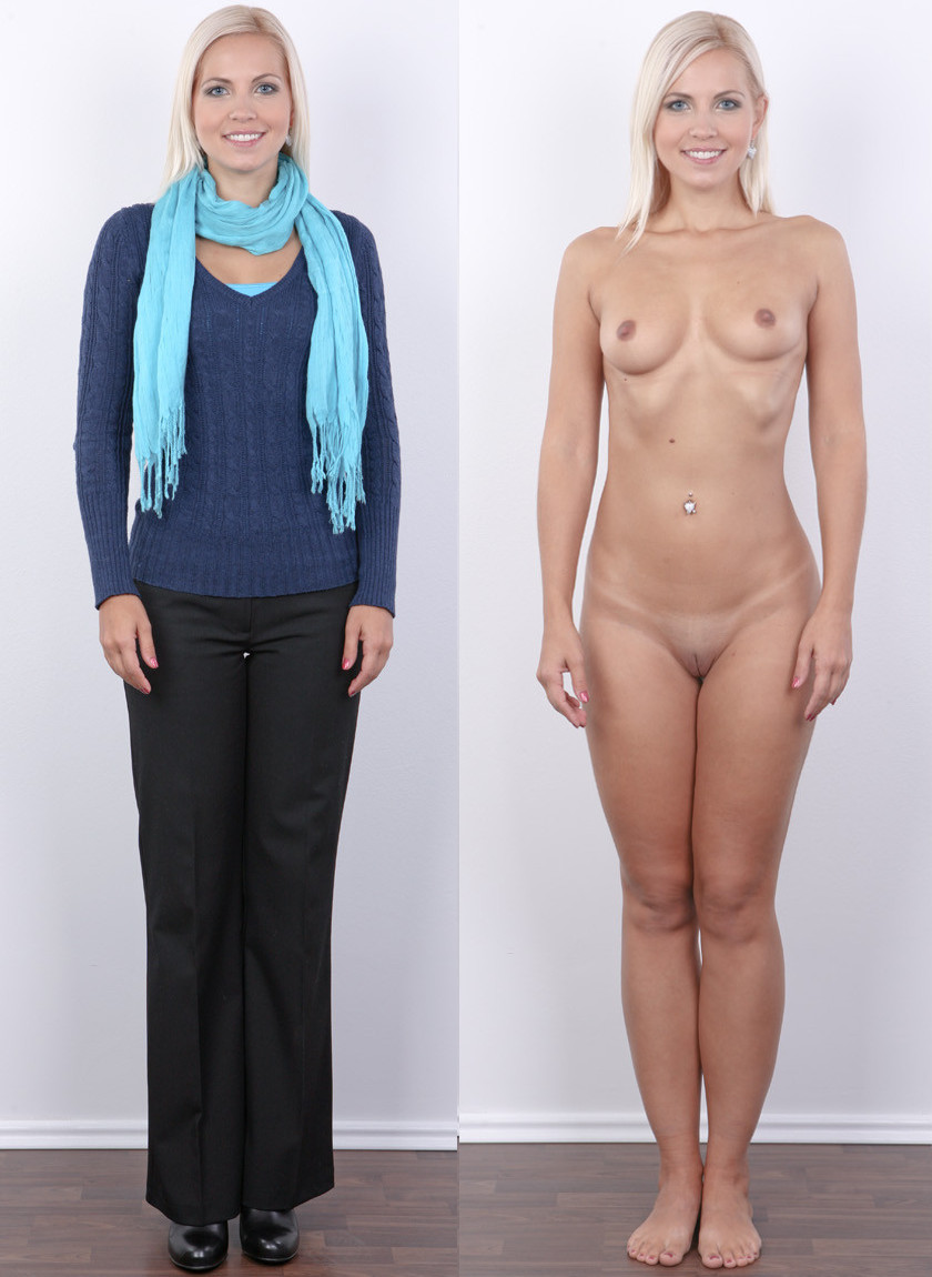 clothes and without Nude with