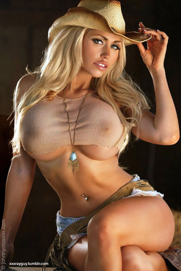 Hot blonde country girl nude