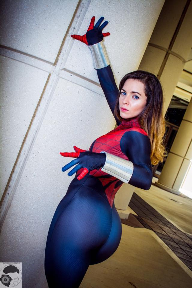 girl cosplay Spider