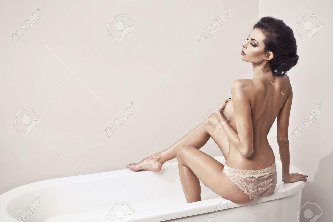 Naked girl bath nude