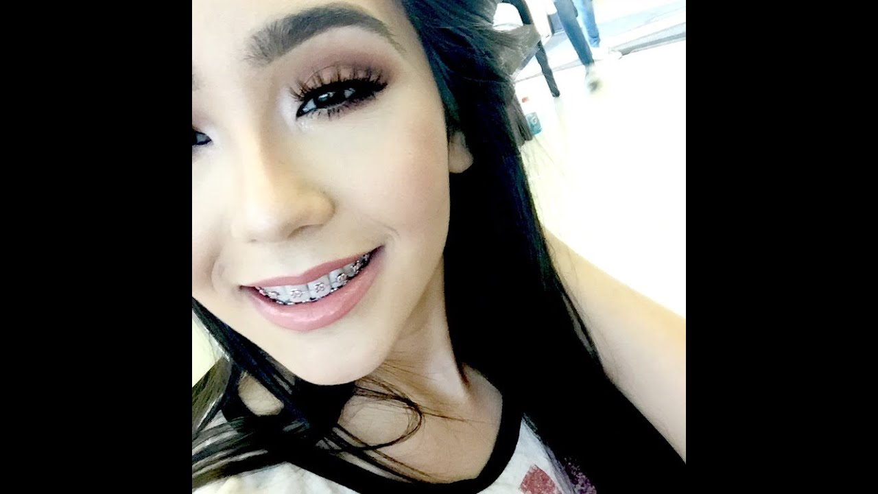 Latina with braces