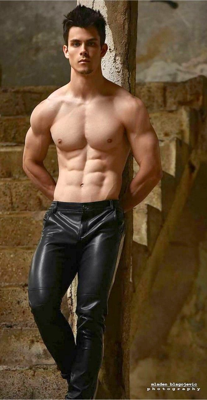 Hot naked men leather