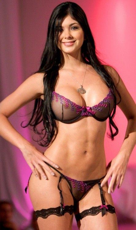 Nude brunette lingerie porn