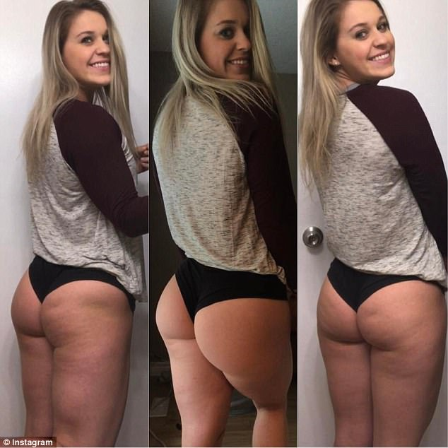 Amateur blonde showing her perfect ass