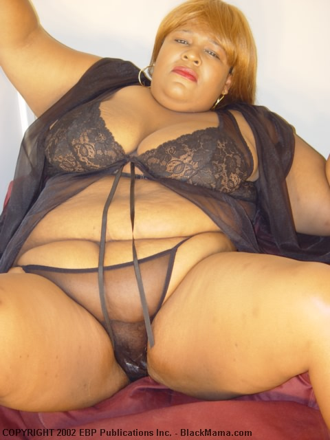 Fat black self shot naked — img 2