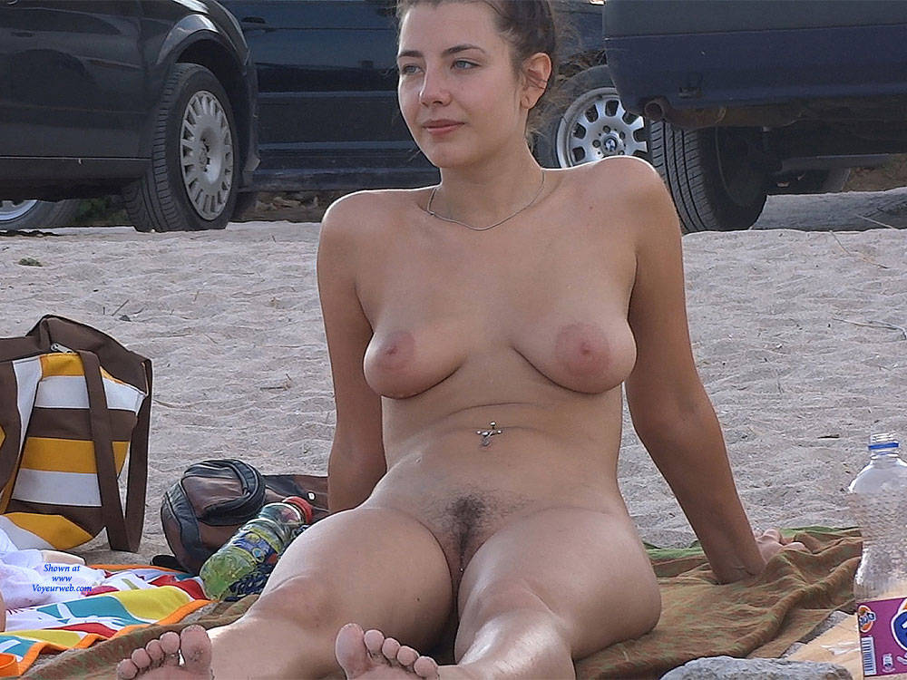 Naked in bed brunette hairy pussy