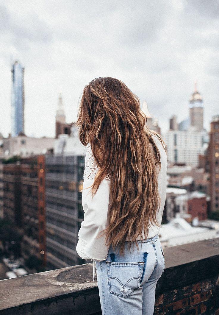 Brunette babe long hair