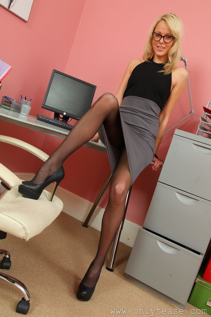 Only tease pantyhose office