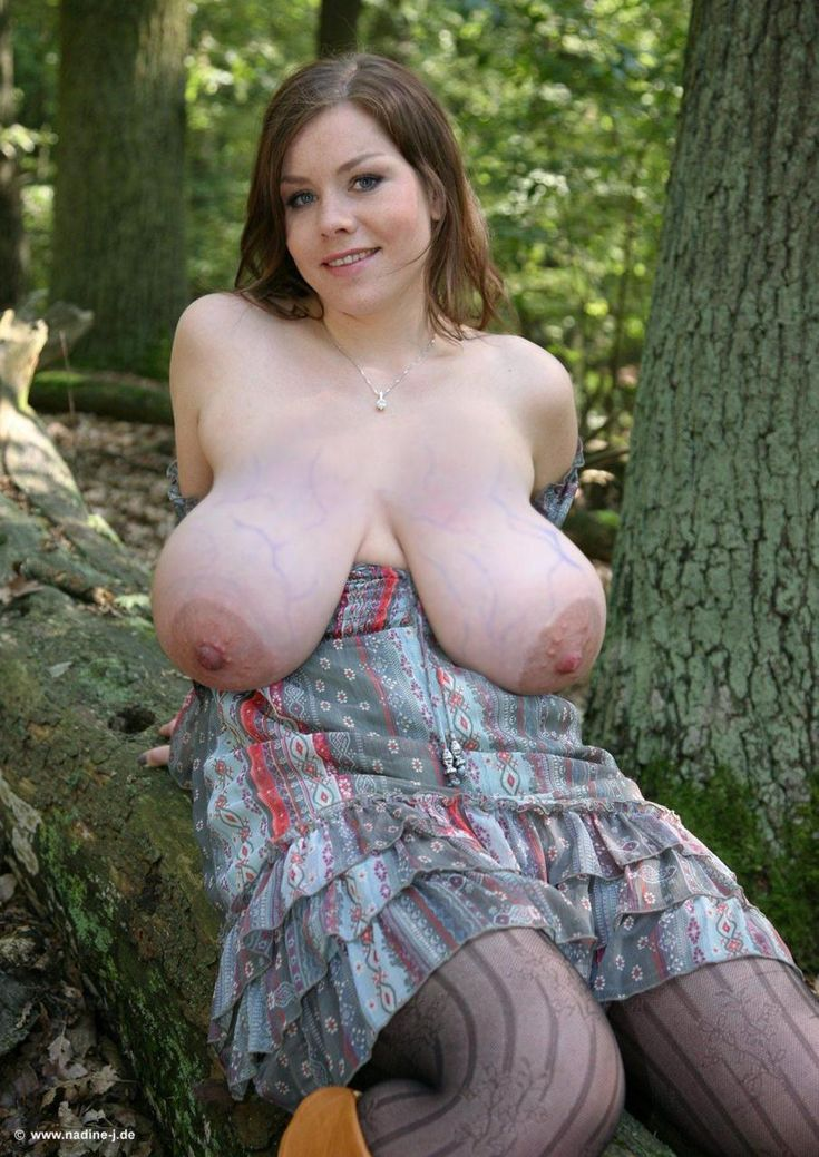 Girls tits big Naked with saggy