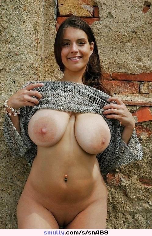 Brunette gf big boobs