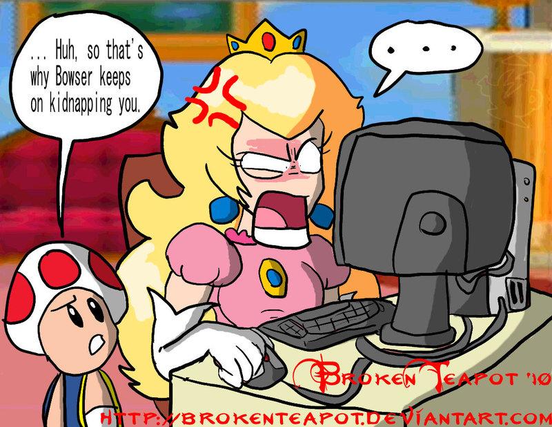 Mario princess peach and bowser porn