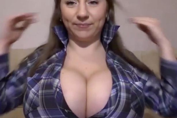 Shirt ripped open boobs