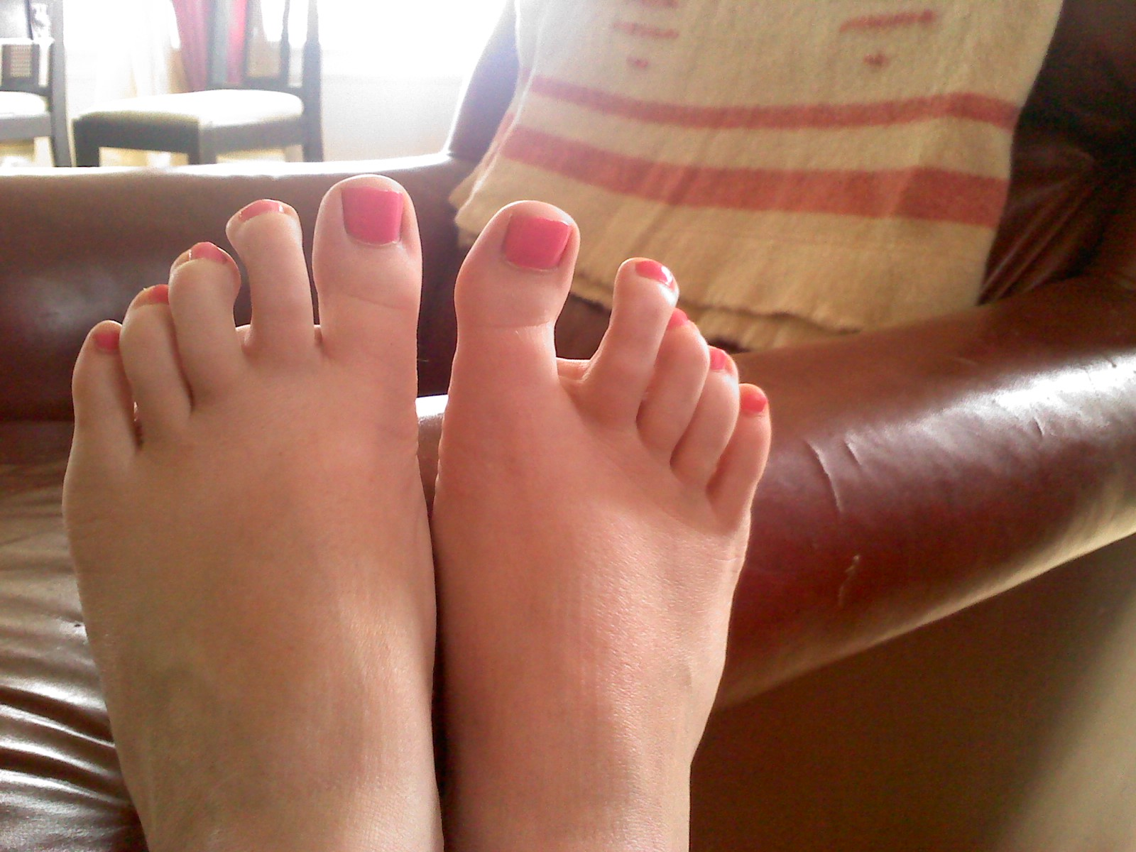 Painted teen feet
