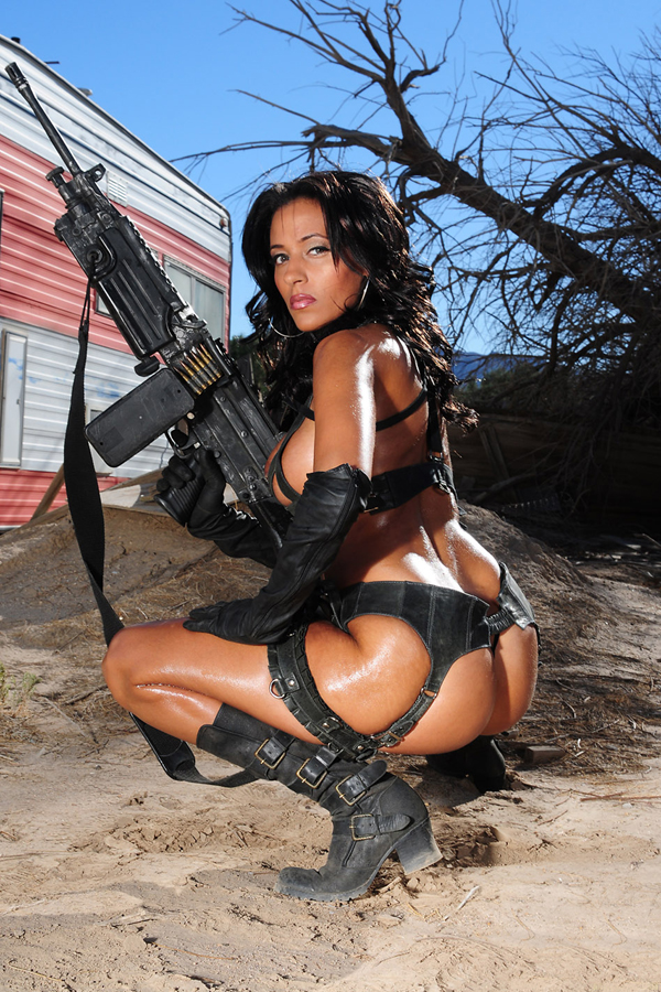 Sexy naked girls with guns