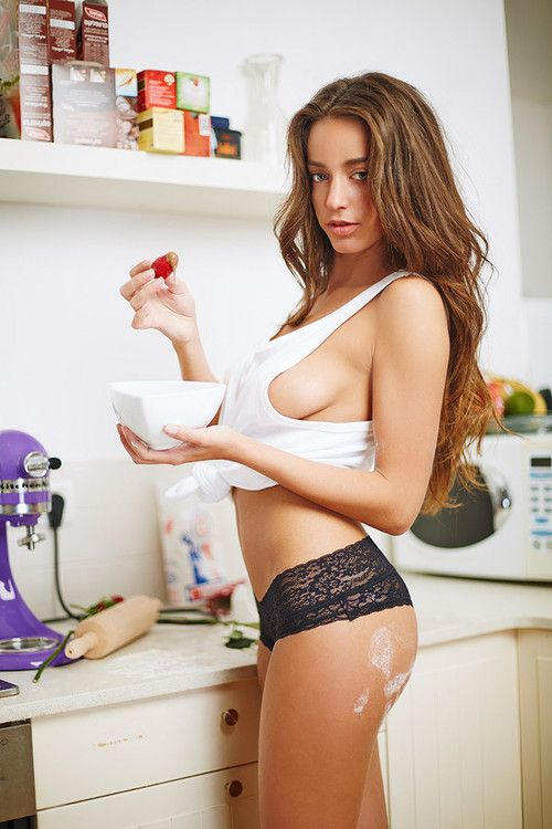 Hot housewives naked kitchen