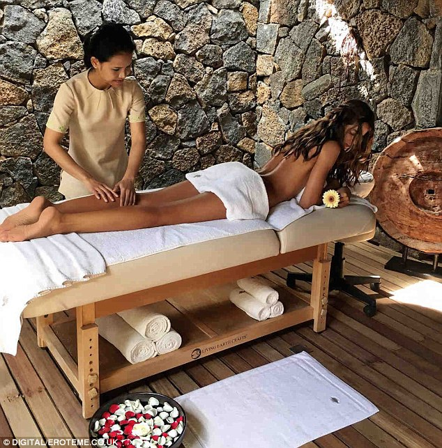 Karen fisher on massage table