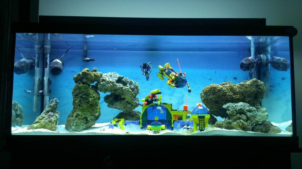 Super mario fish tank decorations