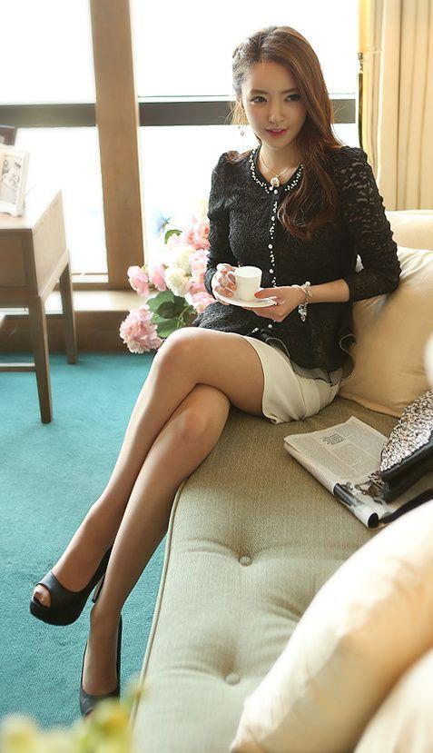 Tan nylons stockings pantyhose