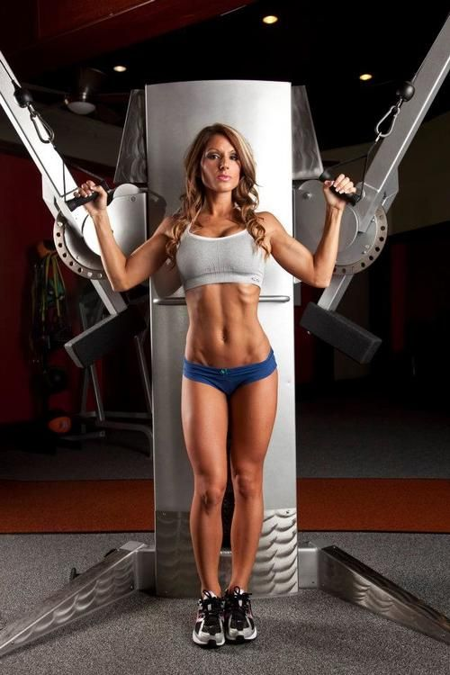 Hot sexy fitness babe workout gym