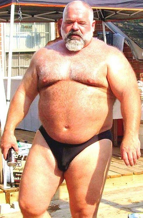 Big fat gay chubby daddy bear