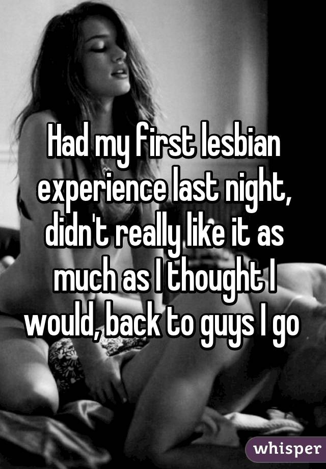 first experience My lesbian