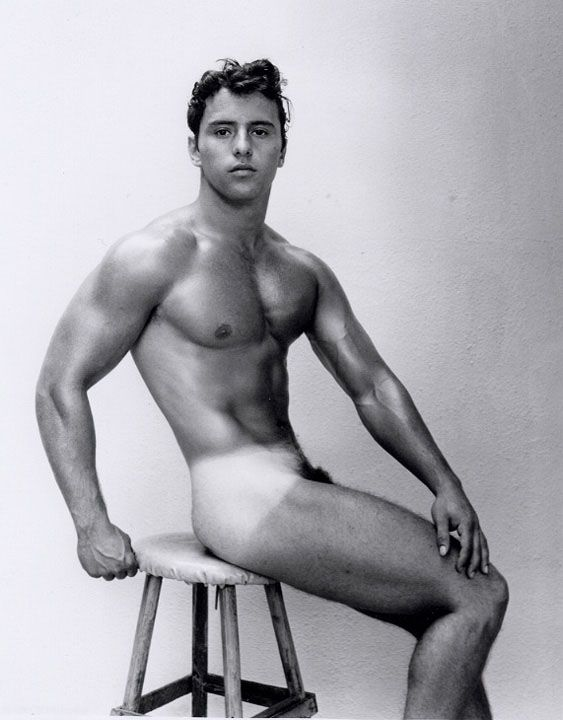Vintage male nude muscle men