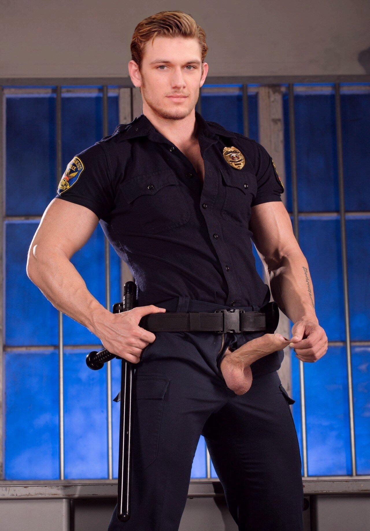 Cop gay police porn