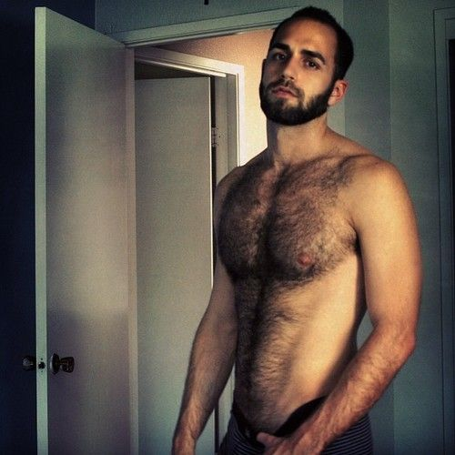 Hairy straight men