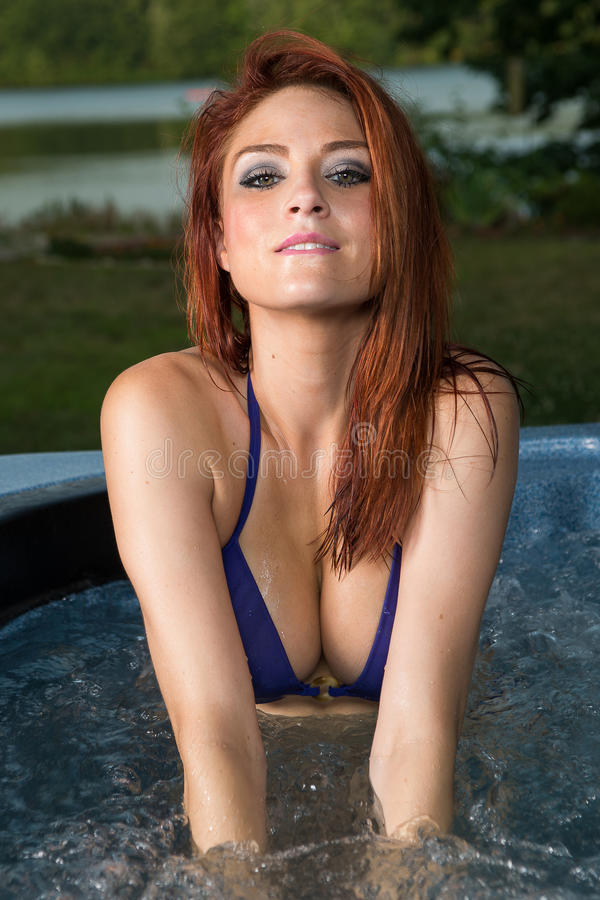 Hot redhead woman