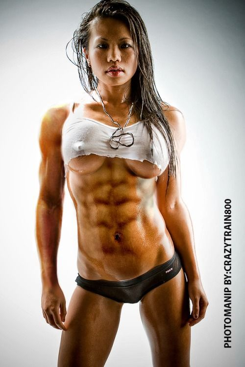 Hot naked asian girls working out