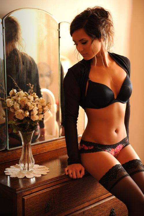 Brunette erotic massage